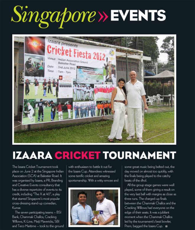 Cricket Fiesta 2012 - Mention